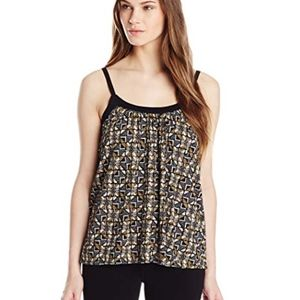 Lucky Brand African Check Print Tank Top